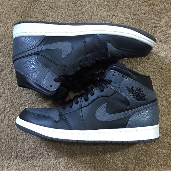 new concept 43d62 eafc0 Nike Air Jordan 1 Tumbled Leather 554724-041 Grey.  M 5b1eb62bd6dc52facb8eda35